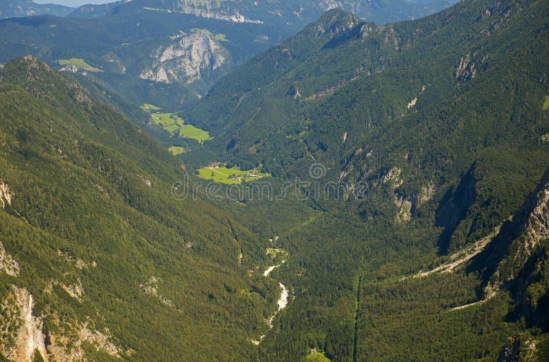 Долина Logar, Словения стоковые фотографии rf
