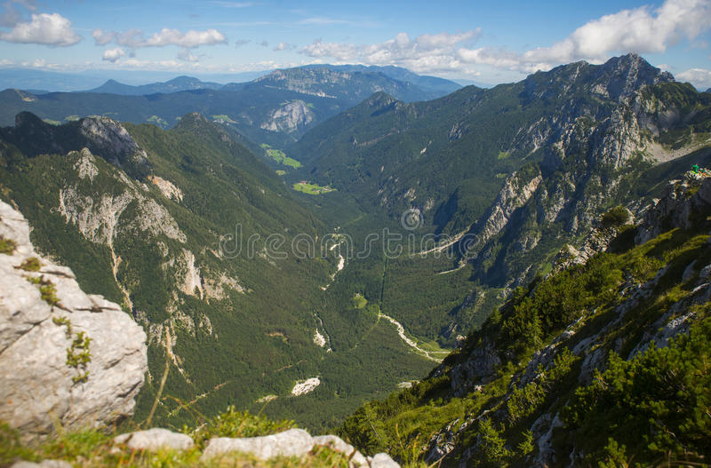 Долина Logar, Словения стоковое фото rf