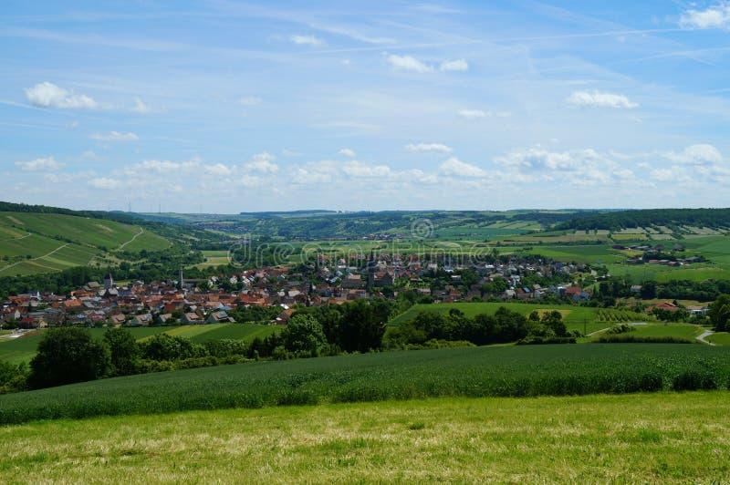 Долина Markelsheim, часть вина известной touristic романтичной улицы в Баварии стоковое фото