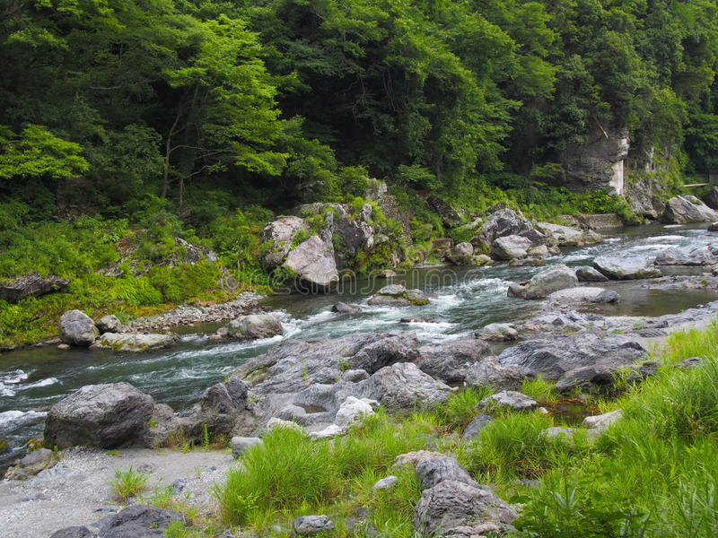 Долина Mitake в Okutama, токио стоковое изображение