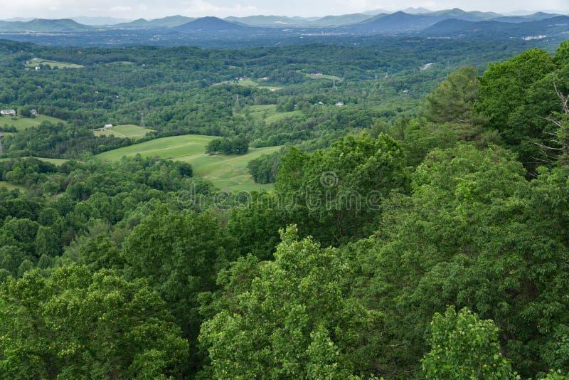 Долина Roanoke в весеннем времени стоковое изображение