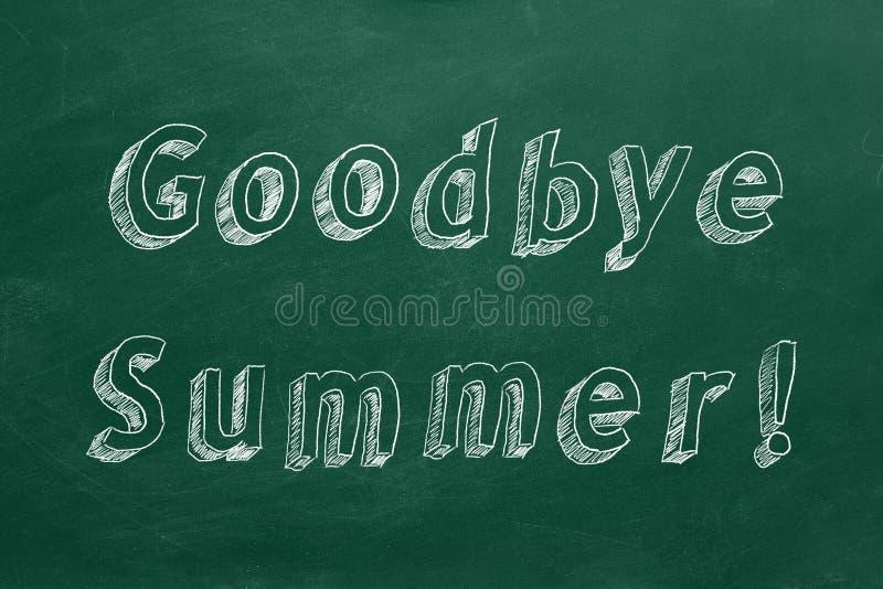 До свидания лето стоковые изображения rf