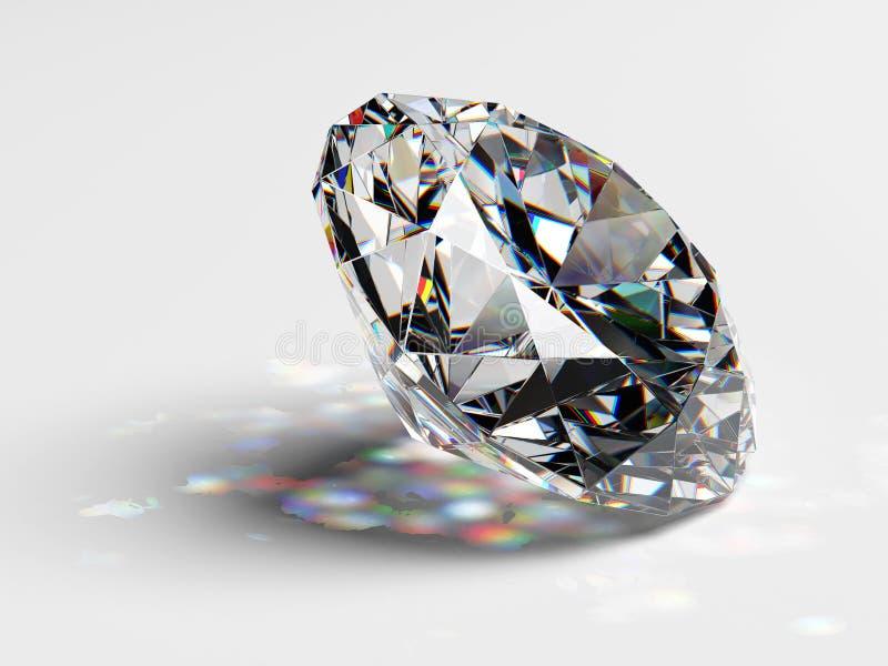 Драгоценность диаманта с каустиками иллюстрация вектора