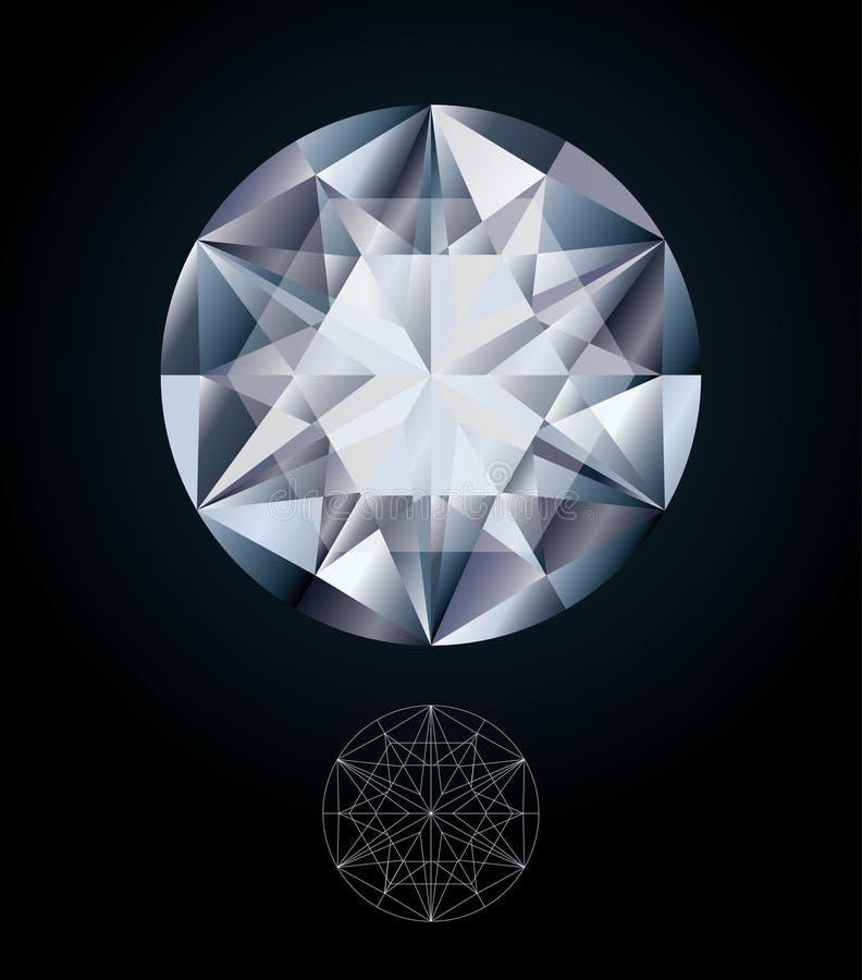 Драгоценность диаманта иллюстрация штока