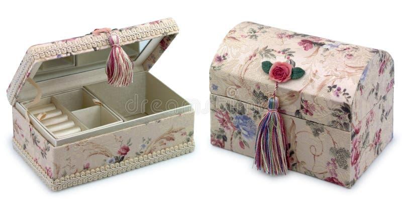 драгоценность изолированная коробкой стоковые изображения rf