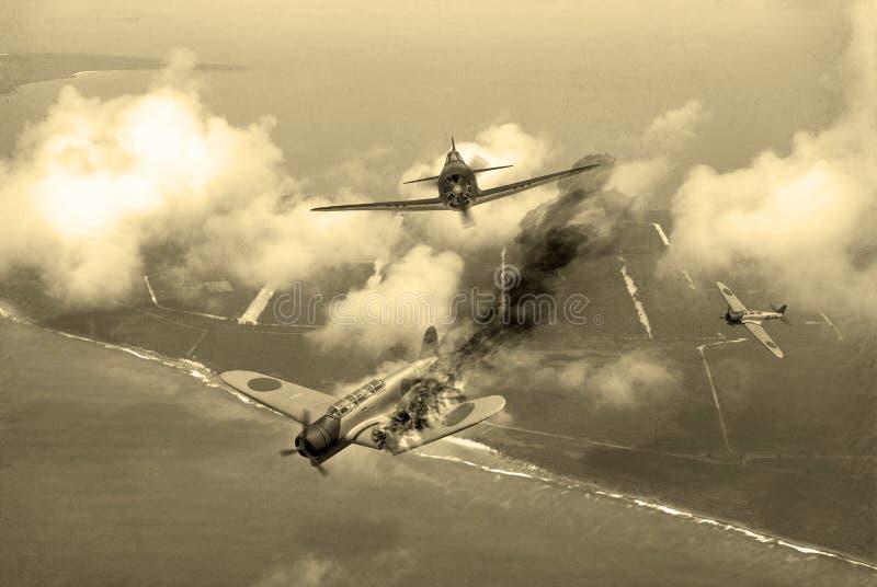 Драка Второй Мировой Войны бесплатная иллюстрация