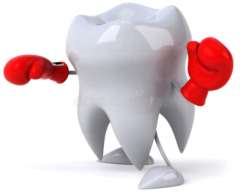 драка готовая к зубу иллюстрация вектора