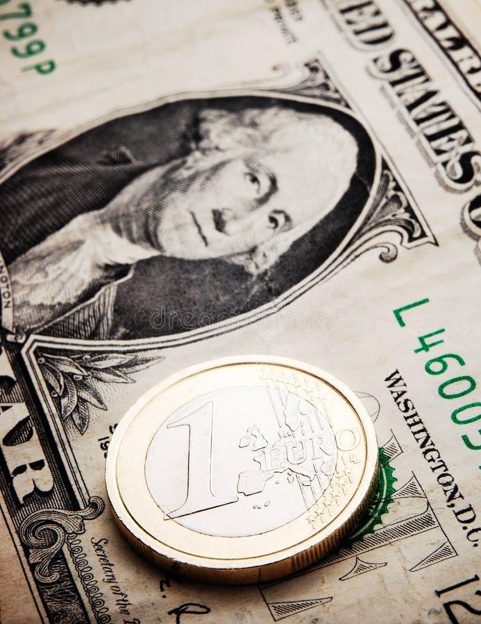 драка евро доллара стоковые изображения