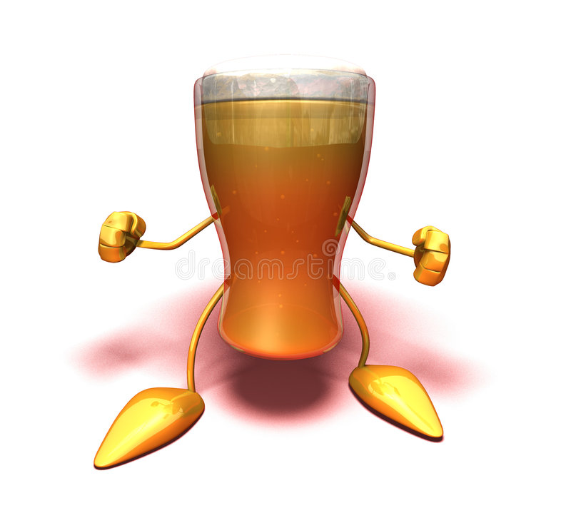 драка пива готовая к иллюстрация вектора