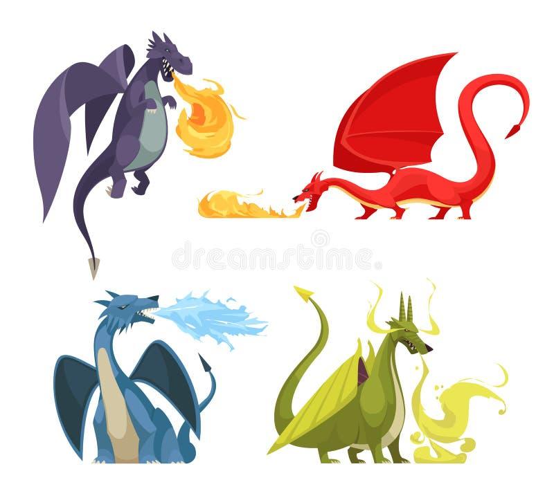 Драконы увольняют концепция мультфильма бесплатная иллюстрация