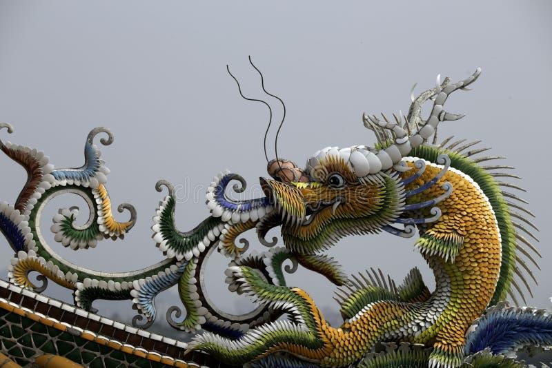 Дракон виска на виске Guandu в Тайбэе стоковые изображения rf