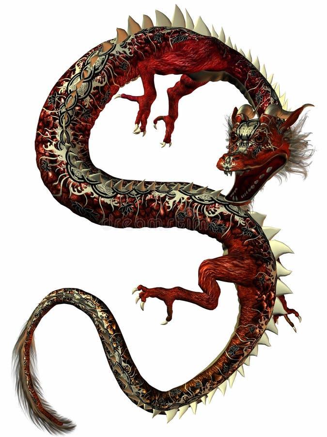 дракон восточный иллюстрация штока