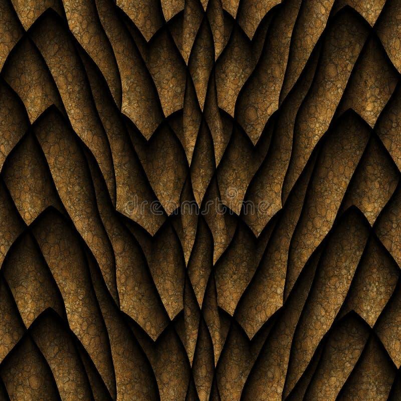 Дракон вычисляет по маcштабу безшовную текстуру иллюстрация вектора