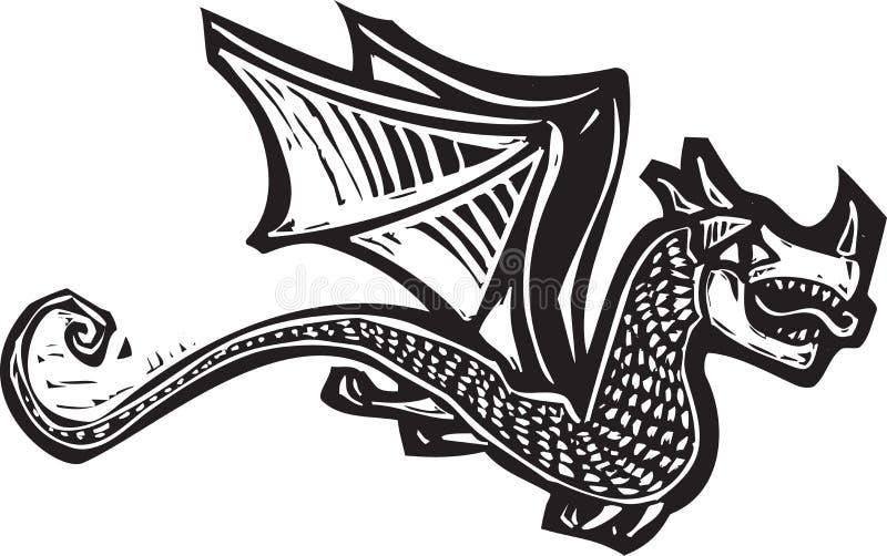 Download Дракон летания один иллюстрация вектора. иллюстрации насчитывающей путешествие - 41660886
