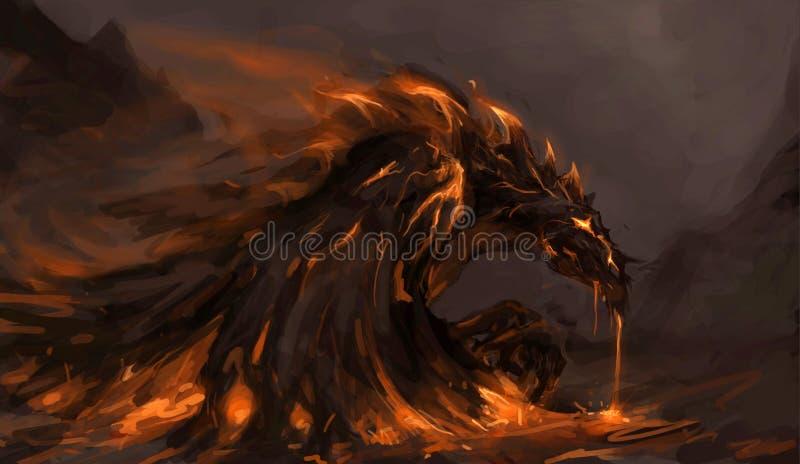 дракон жидкий иллюстрация штока