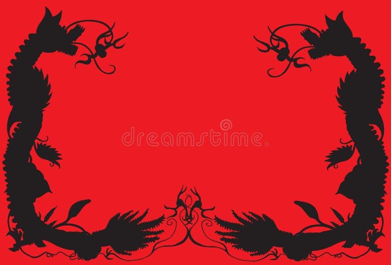 Дракон картины границы иллюстрация штока
