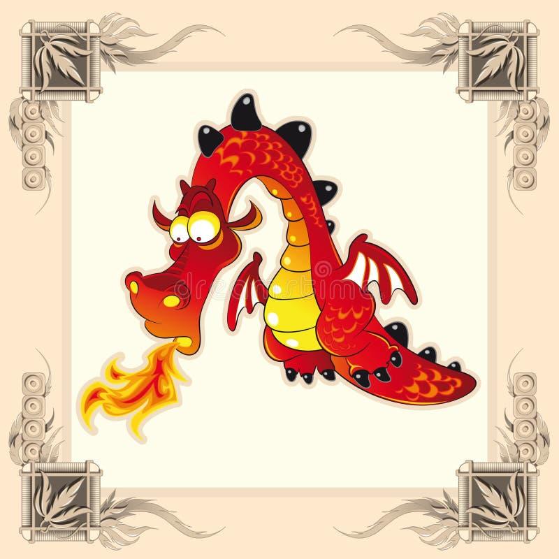 дракон смешной иллюстрация штока