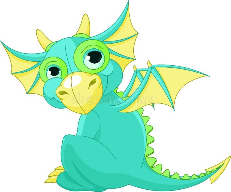 Милый дракон шаржа иллюстрация вектора. иллюстрации ...