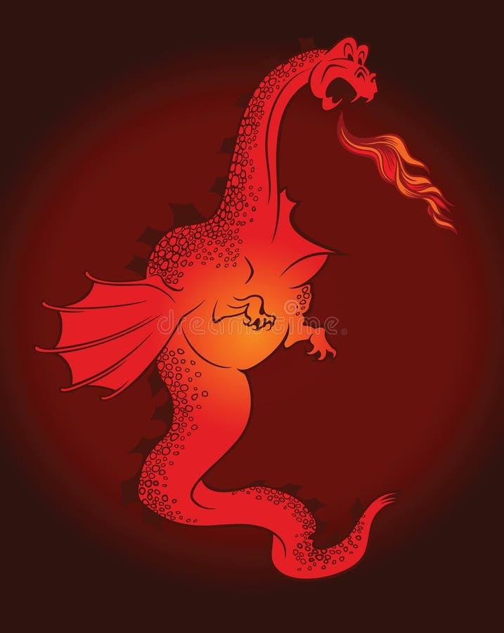 дракон шаржа иллюстрация вектора