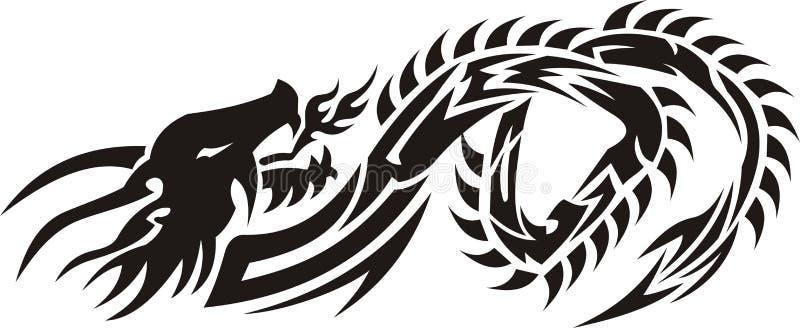 дракон 03 соплеменный иллюстрация вектора
