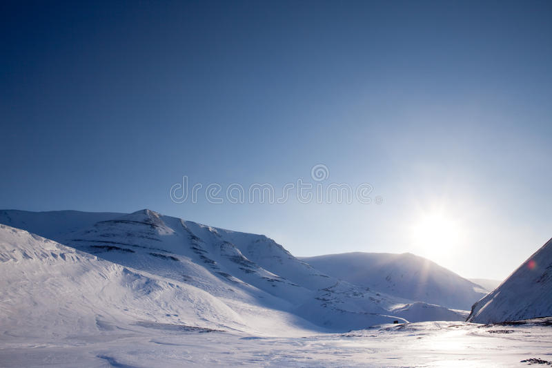 драматическая зима ландшафта стоковые фотографии rf
