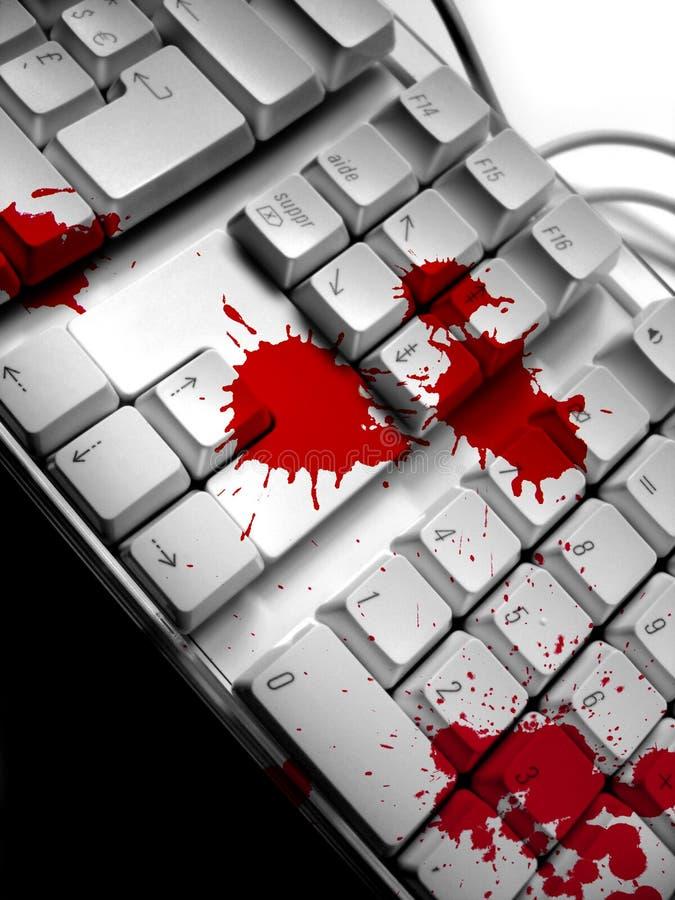 драматическая клавиатура стоковая фотография rf