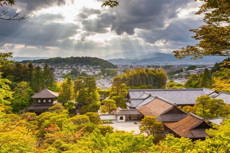Драматическая панорама Киото стоковая фотография rf