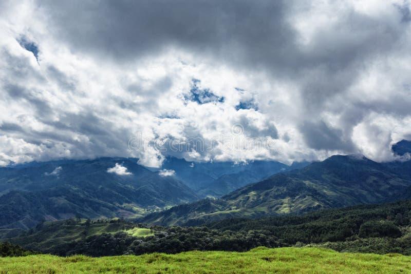 Драматическая сельская Колумбия стоковое фото