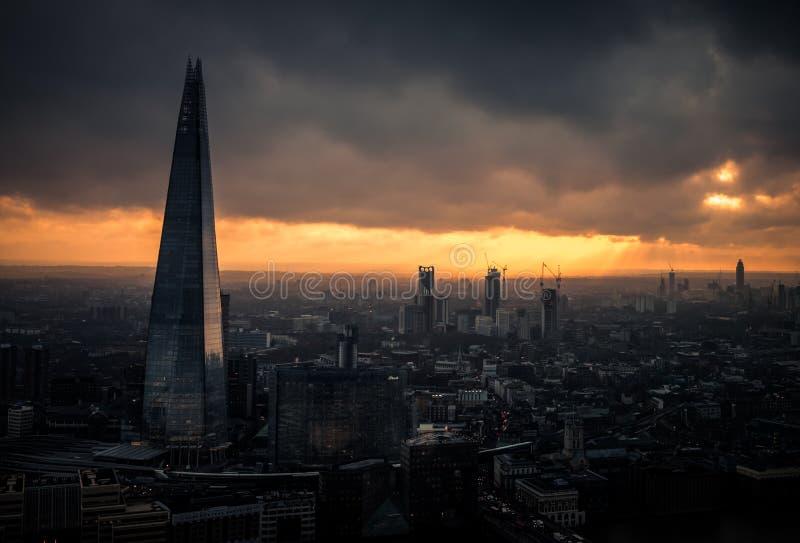 Драматический взгляд Brexit готового Лондона стоковое изображение