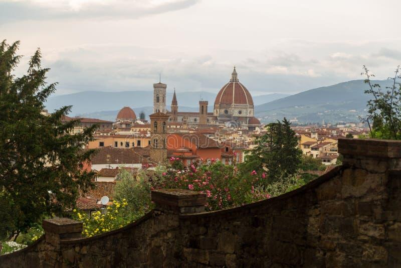 Драматический городской пейзаж Флоренса, Италии стоковое изображение