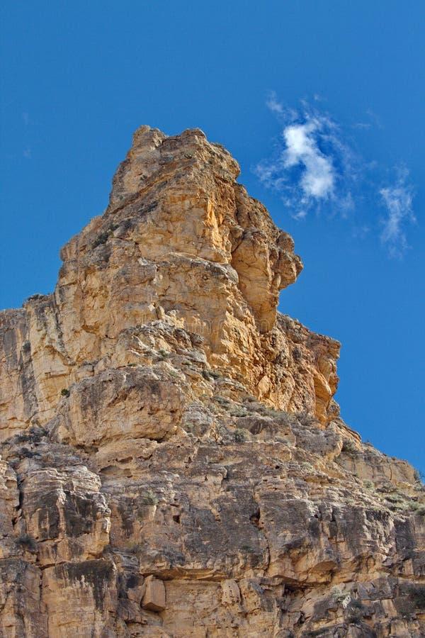 Драматический пик утеса больших гор рожка в Вайоминге стоковое фото rf