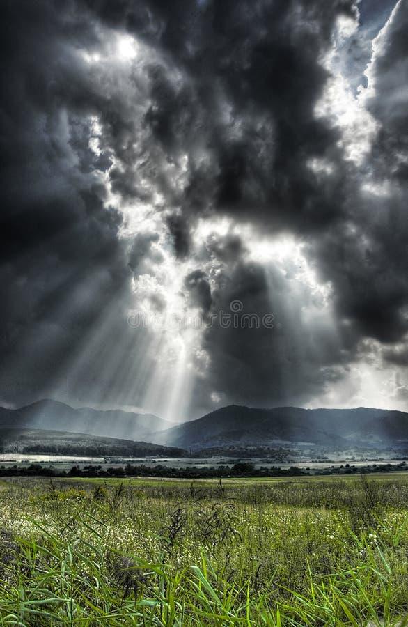 драматическое небо стоковое изображение