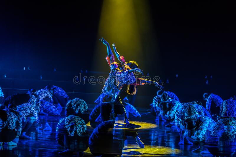 Драма танца мечт 2-Lilac детей стоковое фото