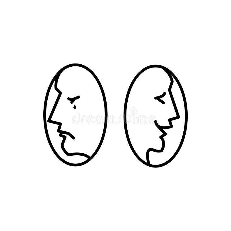 Драма театра, комедия Значок вектора иллюстрации иллюстрация вектора
