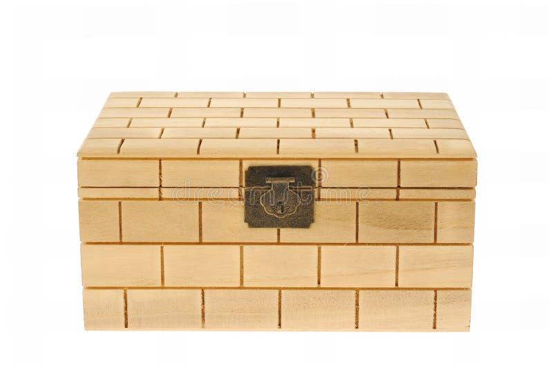 древесина закрынная коробкой изолированная белая стоковые изображения rf