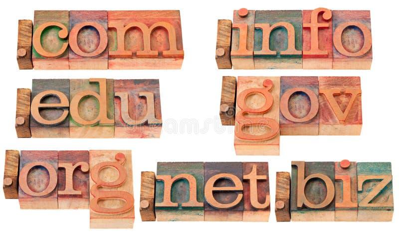 древесина интернета купелей доменов популярная стоковое изображение rf