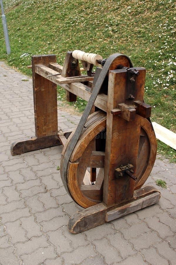 древесина исторической машины поворачивая стоковая фотография rf