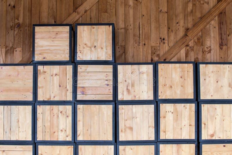 Древесина коробки обоев стоковое фото