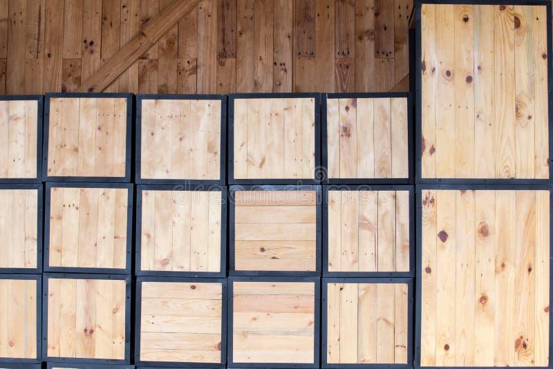 Древесина коробки обоев стоковое изображение rf