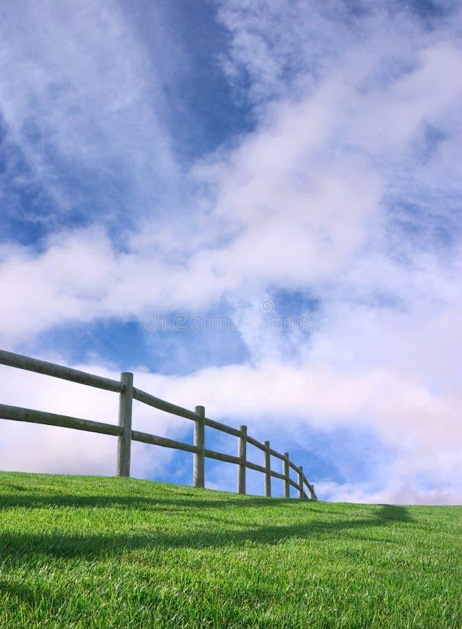 древесина неба загородки стоковые изображения rf