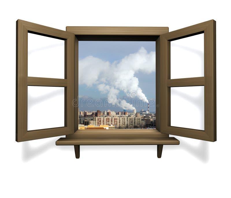 древесина окна иллюстрация вектора