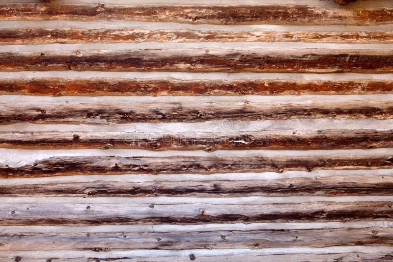 древесина стены журнала кабины предпосылки старая стоковые изображения