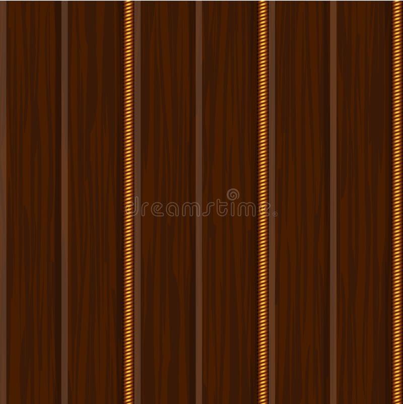 древесина стены текстуры панели золота иллюстрация вектора