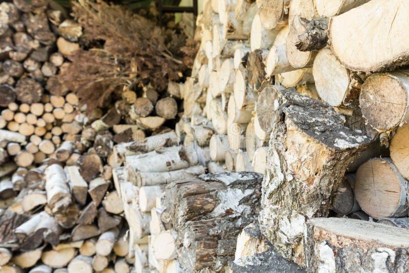 Древесина для камина стоковое изображение
