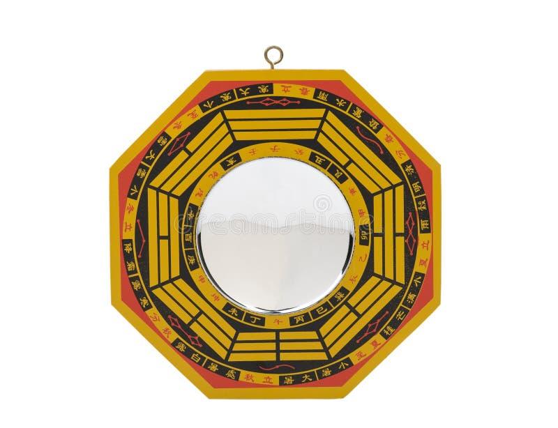 древесина shui зеркала baqua изолированная feng стоковое фото rf
