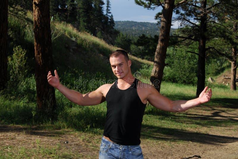 древесины человека стоковое изображение