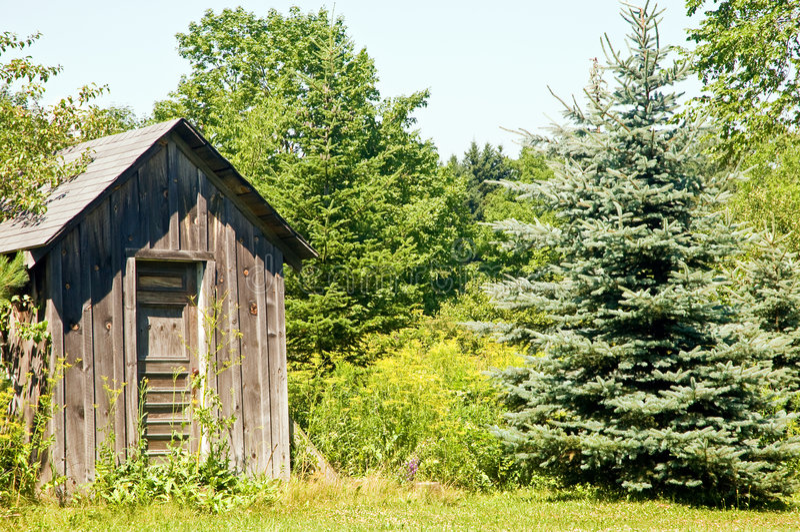 древесины outhouse края стоковые фото