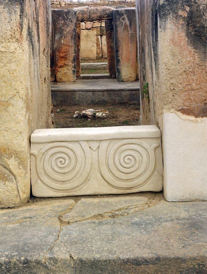 Древние храмы Тарксьен Мальта стоковые фото