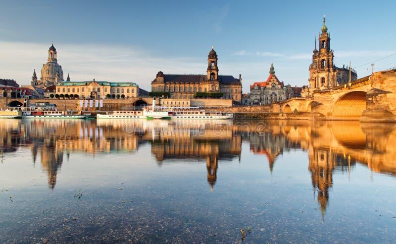 Древний город Дрездена, Германии Исторический и культурный ce стоковое изображение rf