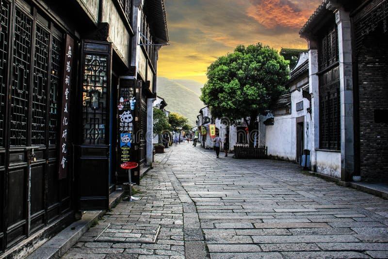 Древний город Китая Wuxi HuiShan стоковое изображение rf